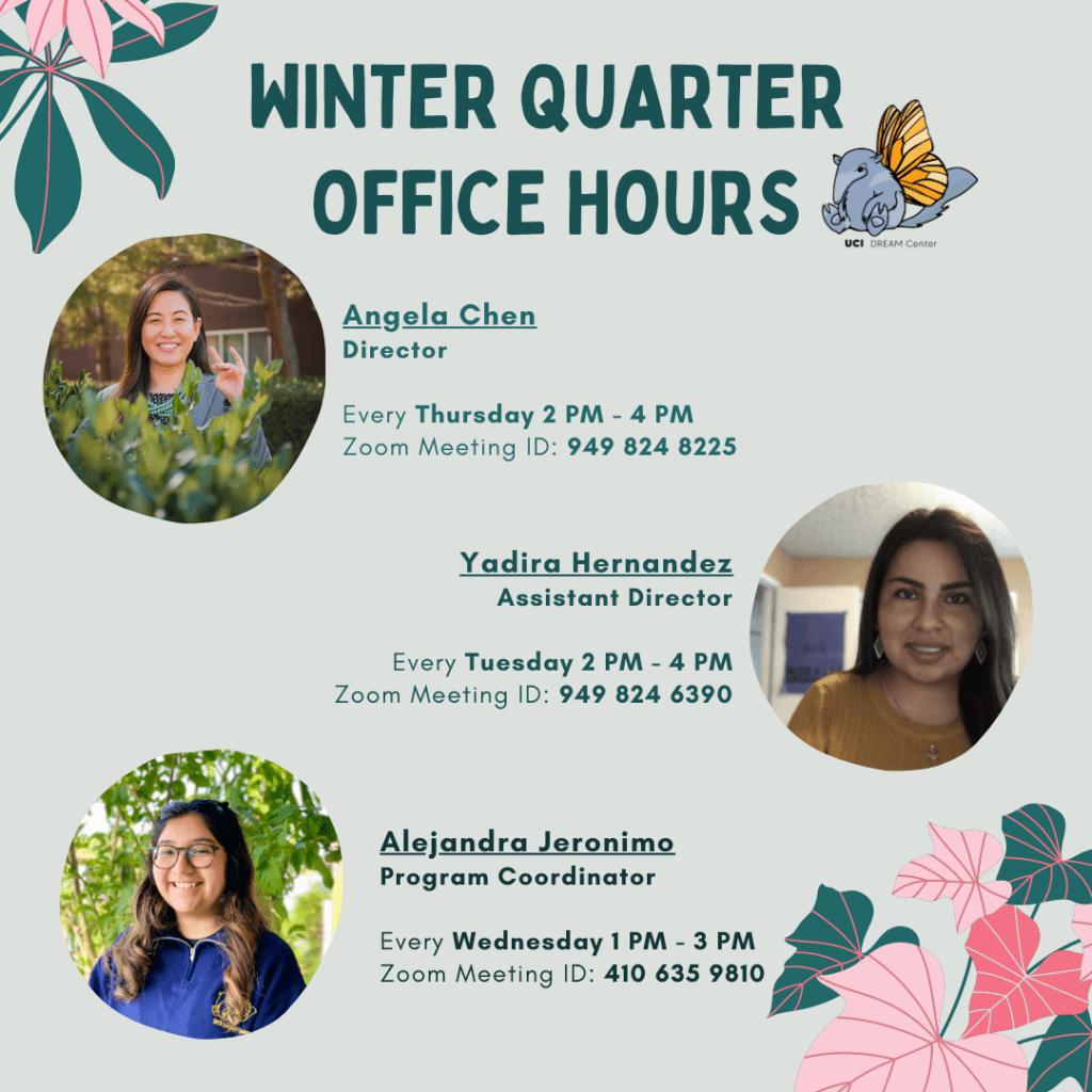 Winter Quarter office hours